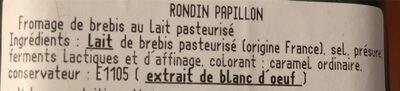 Rondin - Ingrédients - fr