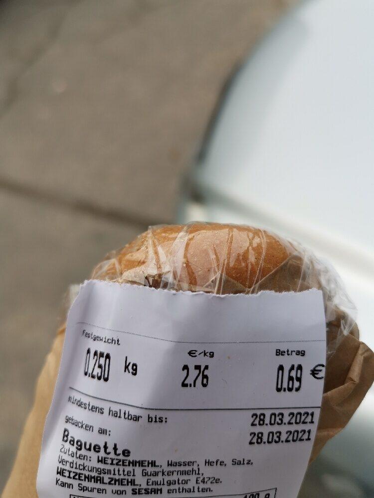 Baguette - Ingredienti - en