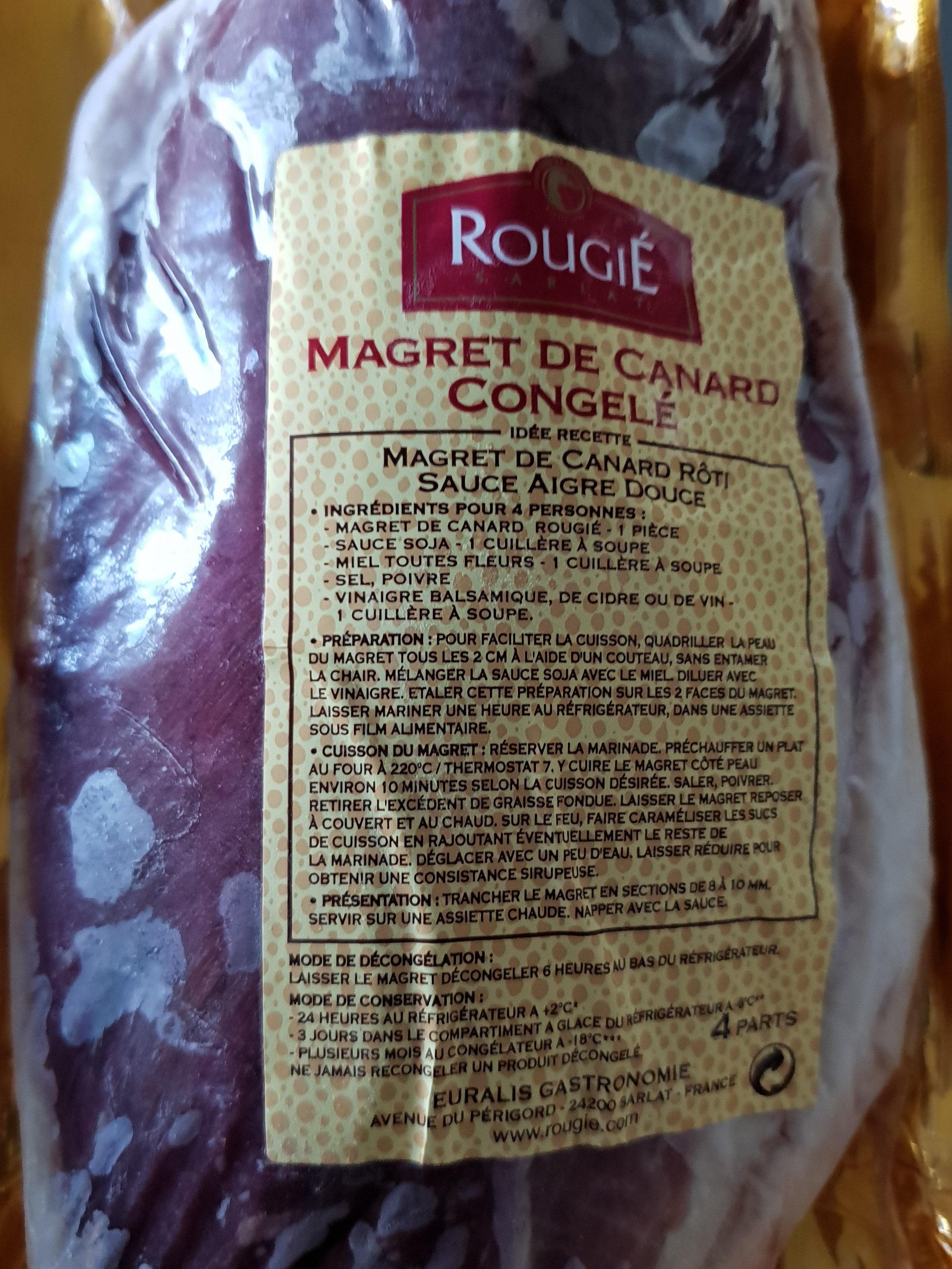 magret de canard  congelé - Produit