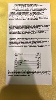 Les milanaises - Nutrition facts