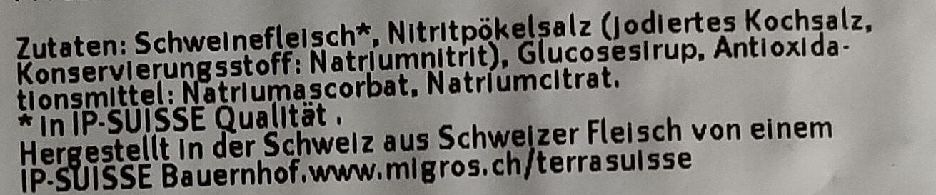 Bratspeck - Ingredienti - de