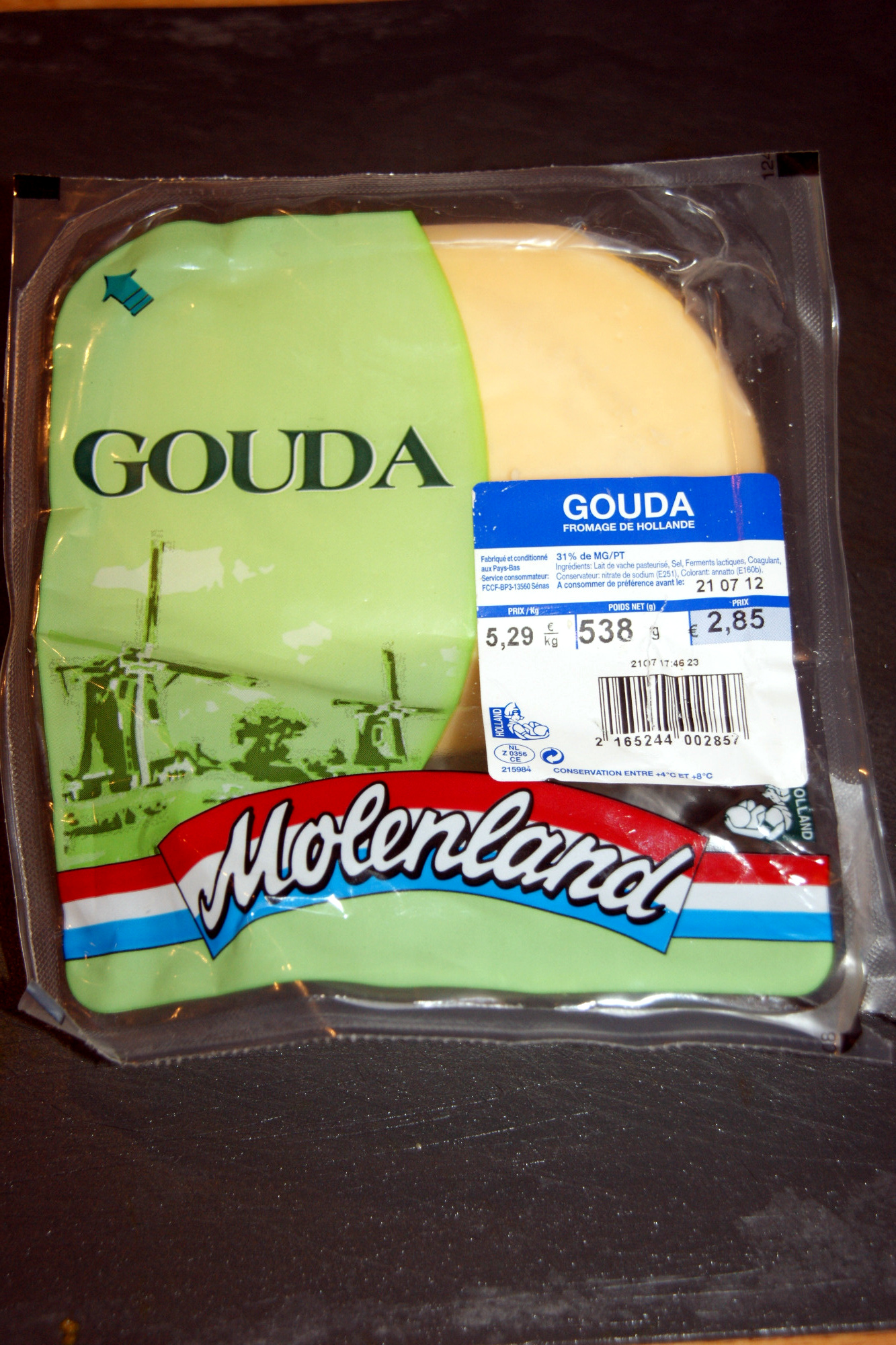 Gouda (31% MG) - Product - fr