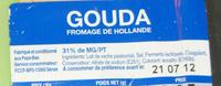 Gouda (31% MG) - Ingrediënten - fr
