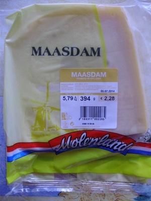 Maasdam (27% MG) - 394 g - Molenland - Product