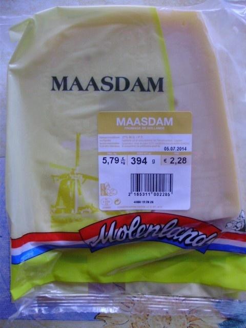 Maasdam (27% MG) - 394 g - Molenland - Product - fr