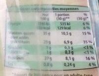 Comté 6 mois - Nutrition facts