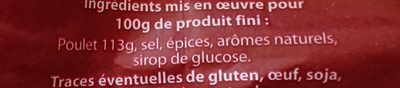 Poulet rôti - Ingrédients
