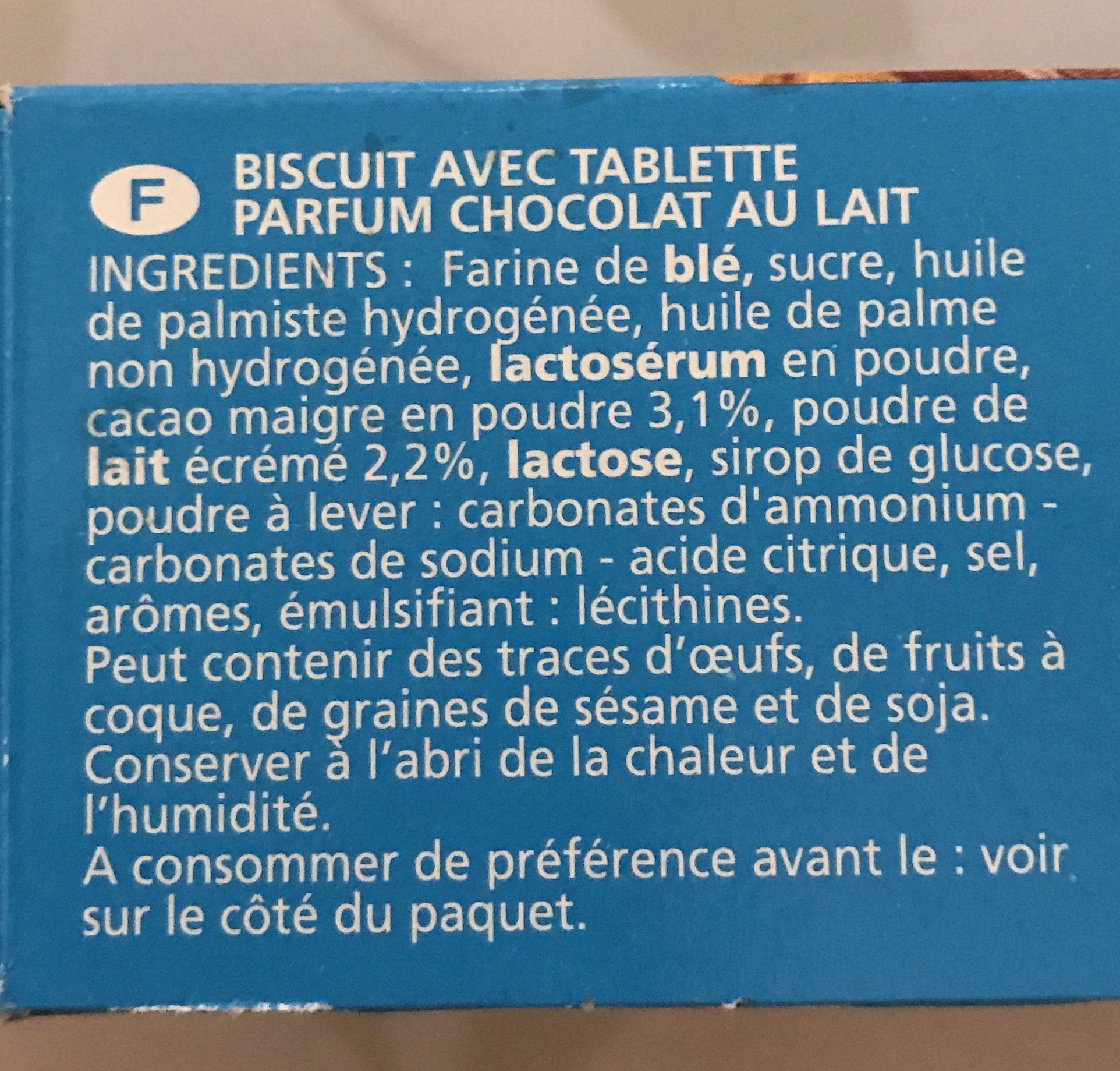 Biscuit avec tablette parfum chocolat - Ingrediënten - fr