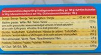 Biscuit avec tablette parfum chocolat - Voedingswaarden - fr