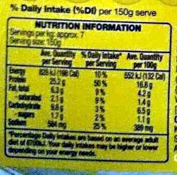 Boneless Roasting Chicken - Sage & Onion - Nutrition facts - en