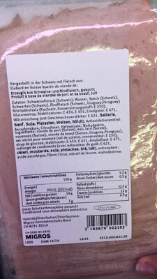 Bugdet Fromade d'Italie - Nutrition facts