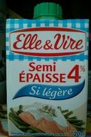 Spécialité laitière semi épaisse 4% - Produit