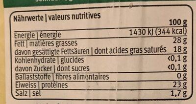 Gouda - Voedingswaarden - fr