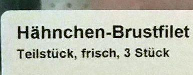 Hähnchen-Brustfilet - Ingrédients