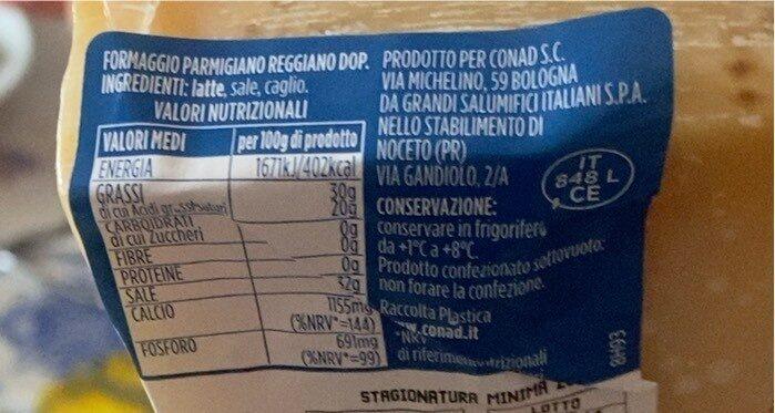 Parmigiano Reggiano DOP - Valori nutrizionali - it