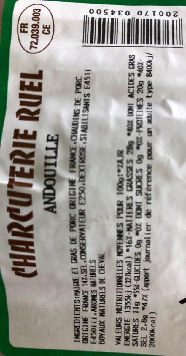 Andouille - Voedingswaarden - fr