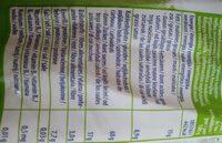 Bio tökölykeksz - Información nutricional - es
