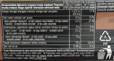 Sports Factory 50% Protein Riegel - Nutrition facts