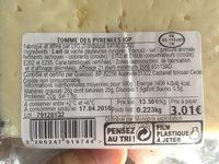 Tomme des pyrenees - Ingredienti - fr