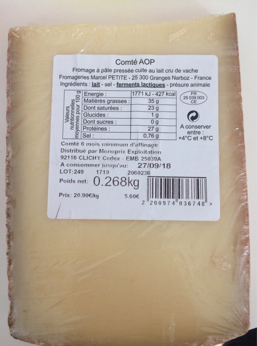 Comté AOP - Produit - fr