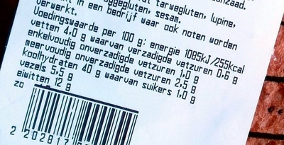 AH Rond Meergranen Half - Nutrition facts