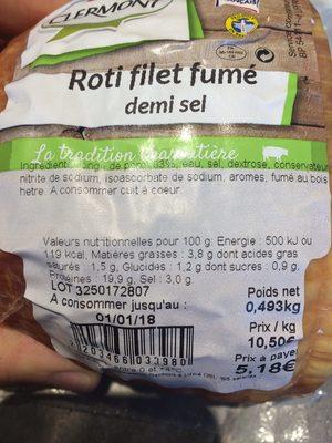 Roti fume demi sel - Ingrédients - fr