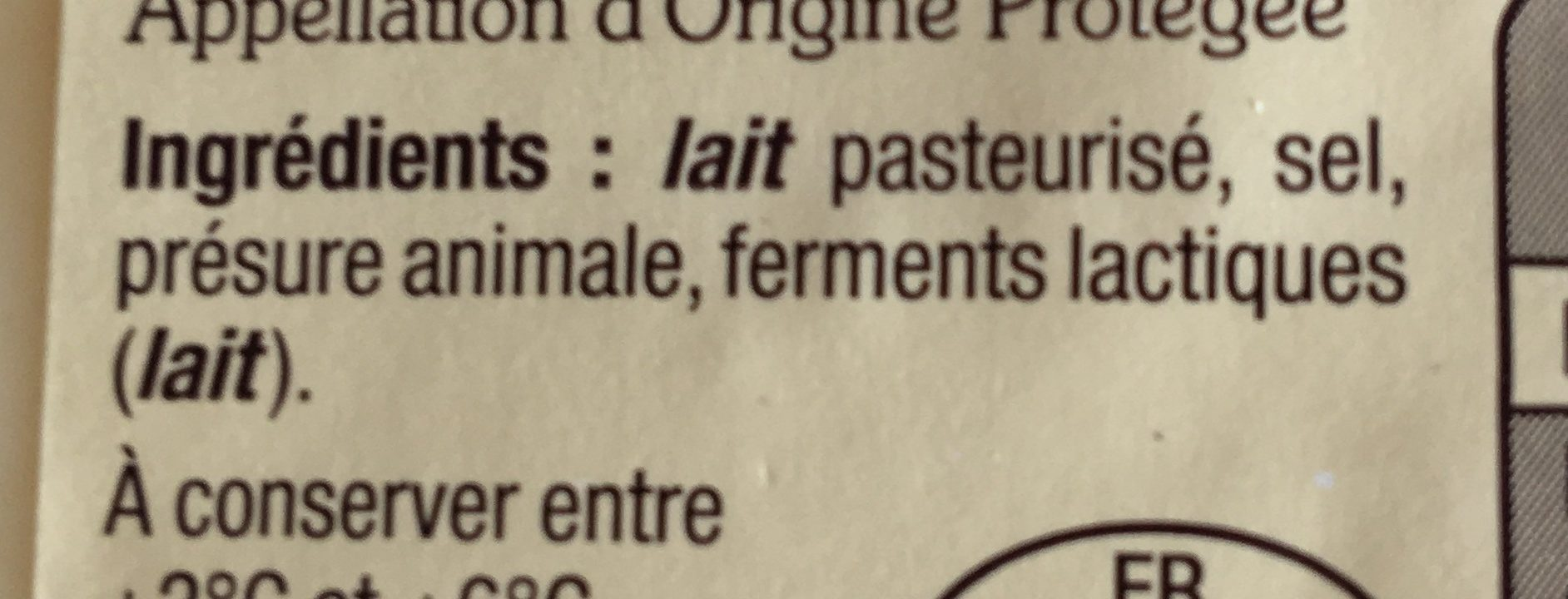 Cantal entre-deux - Ingredients