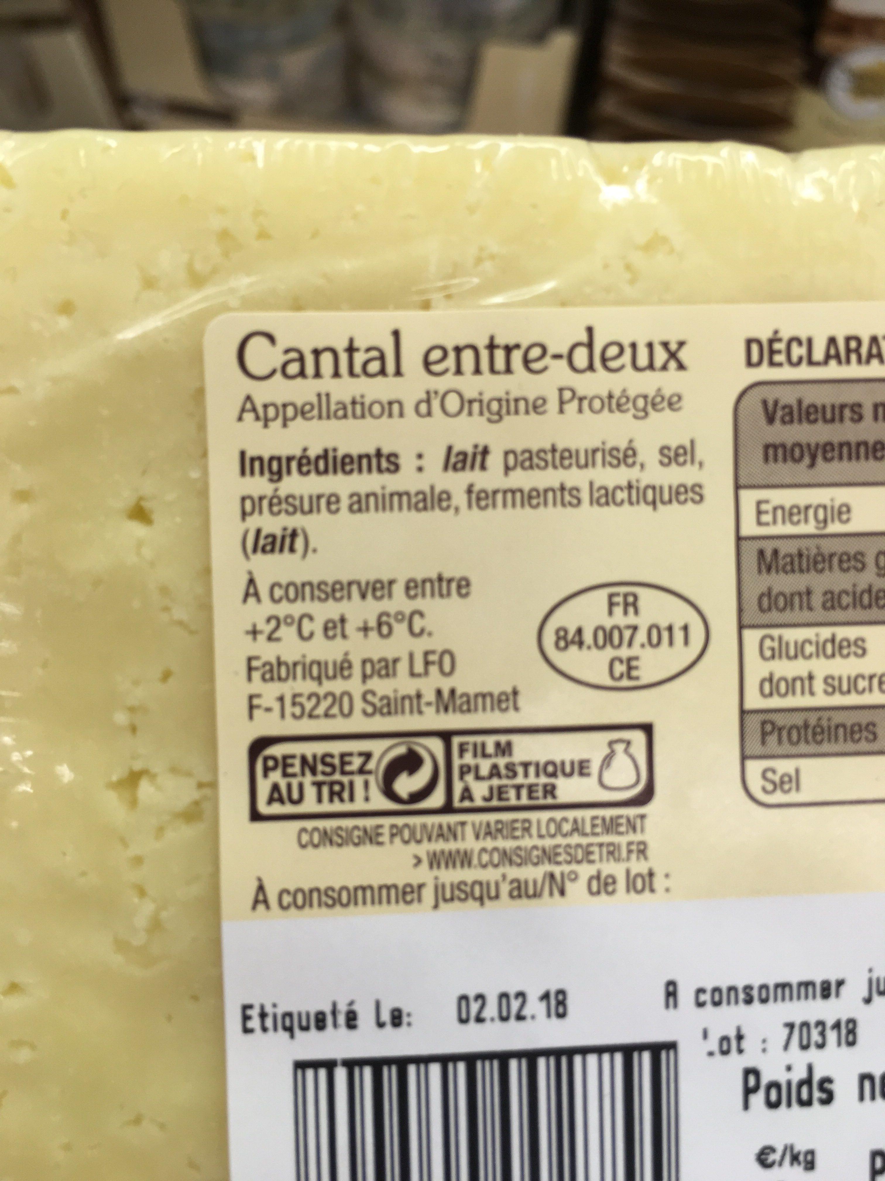 Cantal entre deux - Ingrediënten