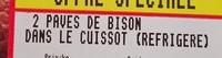 Bison (2 Pavés de Bison dans le Cuissot) - Ingrédients - fr