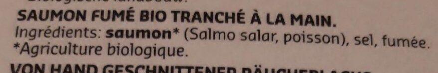 Bio Saumon Fumé Delhaize - Ingredients