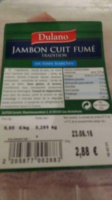 Jambon Cuit Fumé Tradition - Produit
