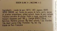Boudin blanc recette a l'ancienne - Ingrédients - fr