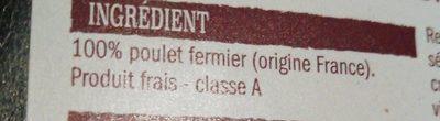 Poulet jaune fermier label rouge - Ingredienti - fr