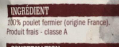Poulet fermeir - Ingredienti - fr