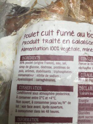 Poulet cuit - Ingrédients