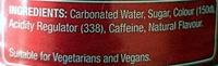 Cola - Ingredients