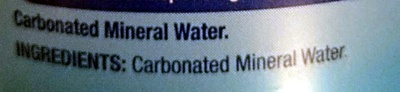 Sparkling Natural Mineral Water - Ingredients