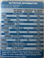 Regular soy milk - Nutrition facts - en