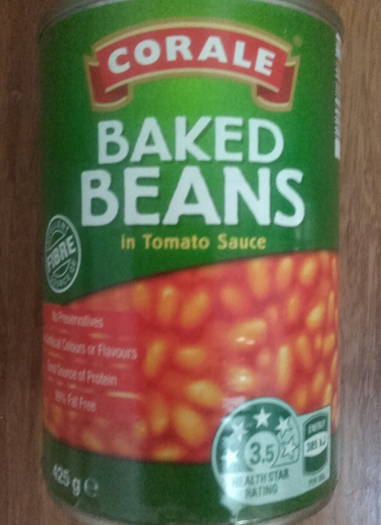 Baked Beans In Tomato Sauce Corale 425 G