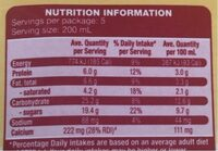 Farmdale Pouring Custard Creamy Vanilla Flavour - Nutrition facts - en