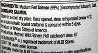 Wild Pacific Salmon Medium Red - Ingredients
