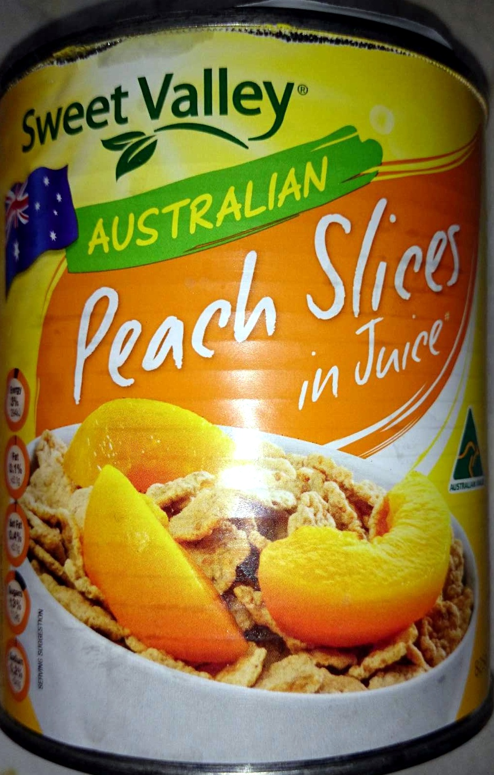 Australian peach slices in juice sweet valley 825 g for Australian cuisine facts