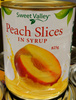 Sweet Valley Peach Slices in Syrup - Product