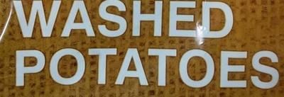 Washed Potatoes - Ingredients