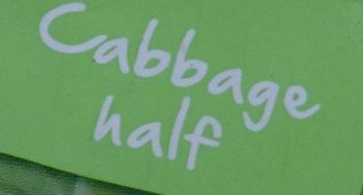 Cabbage Half - Ingredients
