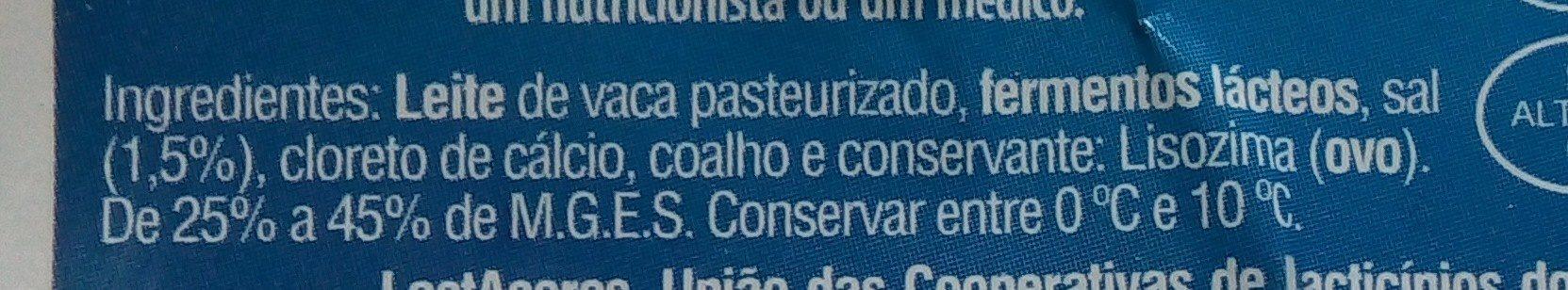 Queijo Flamengo Fatiado light - Ingredients - pt