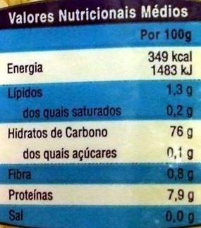 Arroz - Informations nutritionnelles - pt