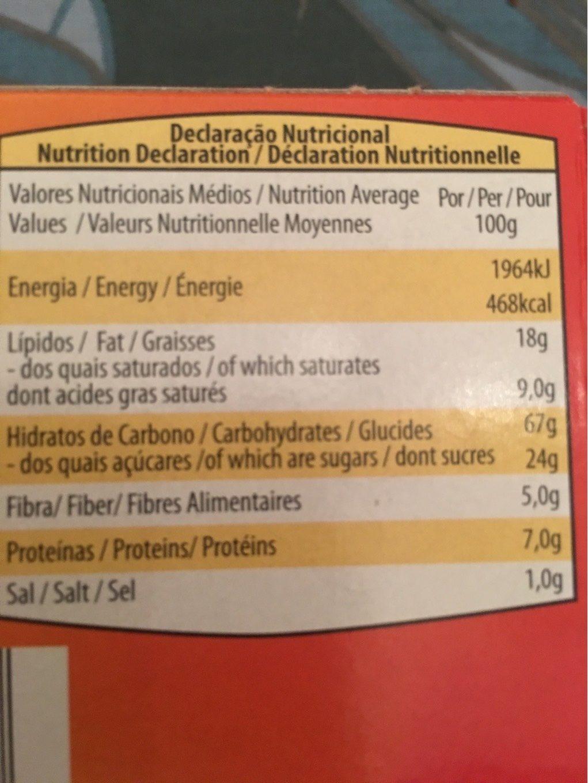 Biscuit d'avoine - Nutrition facts