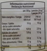 Almendras repeladas crudas - Informations nutritionnelles - es