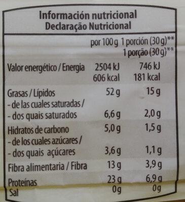 Almendras repeladas crudas - Informations nutritionnelles